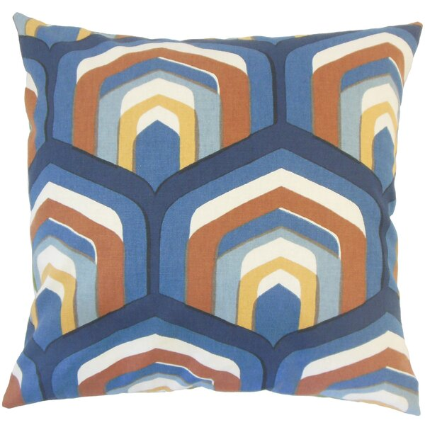 Shana Geometric Down Filled 100% Cotton Throw Pillow by Corrigan Studio
